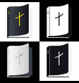 holy bible book pictogram set icons vector image vector image