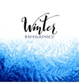Ice winter background vector image vector image