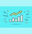 icon of growth chart vector image vector image