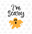 im scary halloween party poster vector image