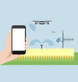 internet of things in agriculture vector image vector image