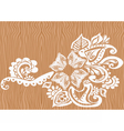 Lace floral ornament vector image