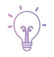 line light bulb energy object icon vector image