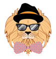 Lion Hipster vector image vector image