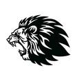 lion roaring head logo icon design vector image vector image