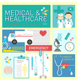 Medical and healthcare flat icon design vector image