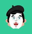 mime happy emotion avatar pantomime merry emoji vector image vector image