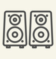 music columns line icon sound system vector image