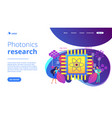 optical technology concept landing page vector image vector image