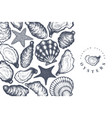 oysters design template hand drawn seafood vector image vector image