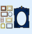 picture frame museum interior exhibition vector image vector image