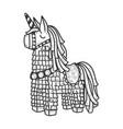 pinata toy sketch vector image