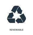 renewable icon flat style icon design ui vector image