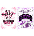 save the date true love never ends vector image vector image