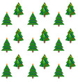 seamless pattern evergreen tree to new year and vector image