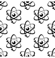 Seamless pattern with atoms on white background vector image vector image
