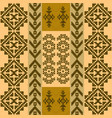 seamless pattern with traditional native american vector image vector image