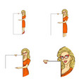 set of female round avatars vector image vector image