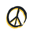 sign peace isolated on bright backdrop poster vector image