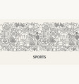 sports banner concept vector image vector image