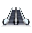 Up And Down Escalators Set vector image