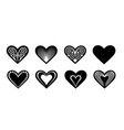 valentine design elements hearts for laser vector image vector image