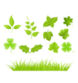 various green plants vector image vector image
