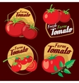 Vintage tomato labels emblems and badges vector image vector image
