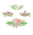 Wedding colorful flower bouquet vector image