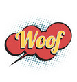 woof comic word vector image vector image
