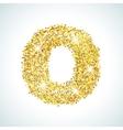 Zero number in golden style vector image vector image