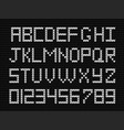white knitted script on charoal black knit vector image