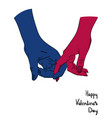 happy valentine s day guy and girl holding each vector image