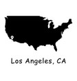 1274 los angeles ca on usa map vector image