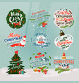 2018 new year and christmas banner or signs vector image vector image