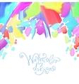 abstract watercolor splash design element vector image vector image