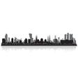 Abu Dhabi UAE city skyline silhouette vector image