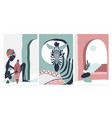 african boho tribe people and zebra animal summer