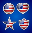 American badges vector image