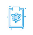 atom clipboard icon design vector image