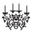 Baroque Classic chandelier on white vector image vector image