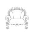 baroque furniture rich armchair handmade vector image vector image