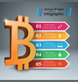 bitcoin five items paper infographic vector image vector image