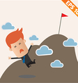 Business man fall from the Top - - EPS10 vector image