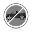 Car ban vector image vector image