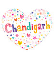 chandigarh city in india vector image vector image