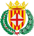 coat of arms of barcelona is a province of spain vector image vector image