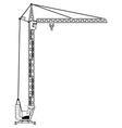 crane tower vector image vector image