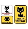 Danger cat vector image vector image