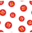 Discount sticker icon seamless pattern background
